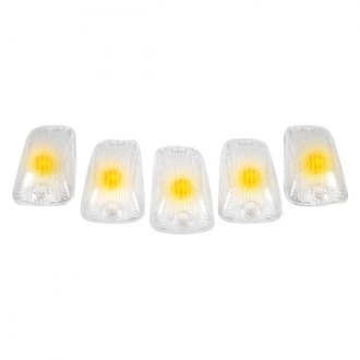 Recon® - Clear Cab Roof Lenses with Amber 194 LED Bulbs