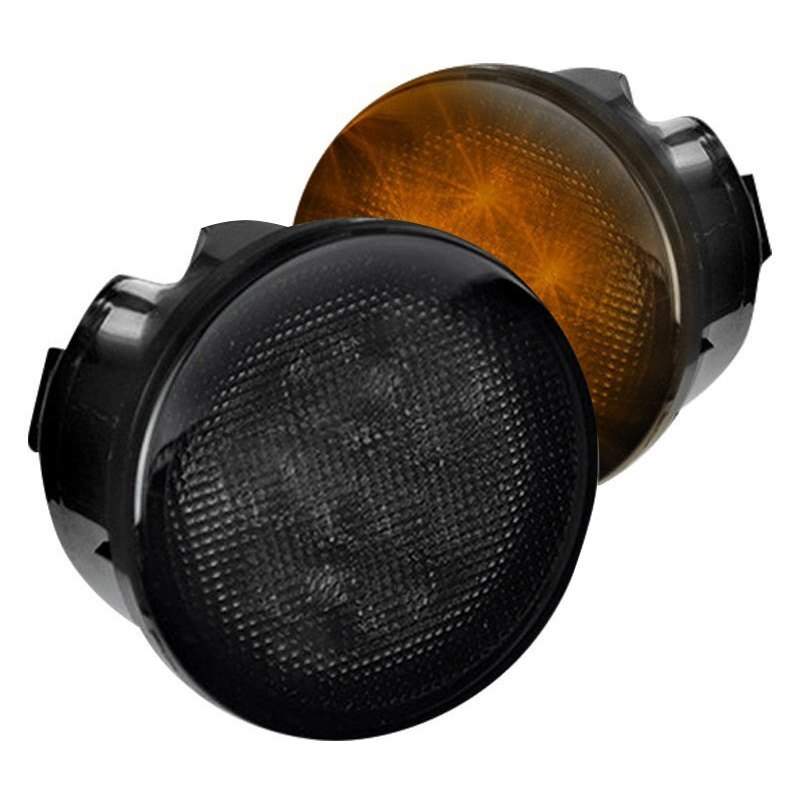 Recon® 264134BK - Black/Smoke LED Turn Signal/Parking Lights