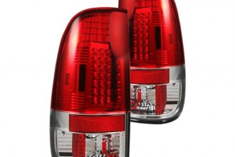 Recon® - Chrome/Red LED Tail Lights