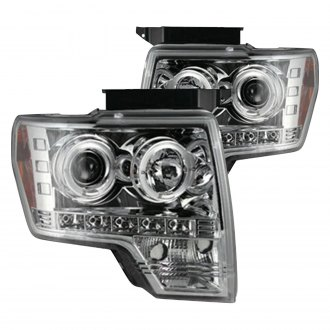 Recon® - Chrome Halo Projector LED Headlights