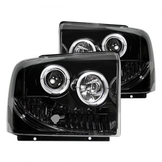 Recon® - Black/Smoke Halo Projector LED Headlights