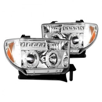 Recon® - Chrome Halo Projector Headlights with LED DRL