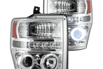 Recon® - Chrome CCFL Halo Projector LED Headlights