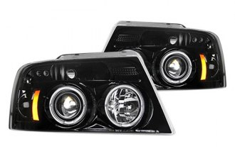 Recon® - Black/Smoke Halo Projector Headlights with LED DRL