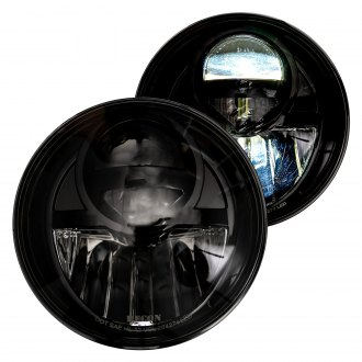 "Recon® - 7"" Round Black/Smoke Projector LED Headlights"