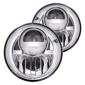 "Recon® - 7"" Round Chrome Projector LED Headlights"
