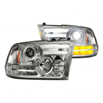 Recon® - Chrome DRL Bar Projector Headlights with LED Turn Signal