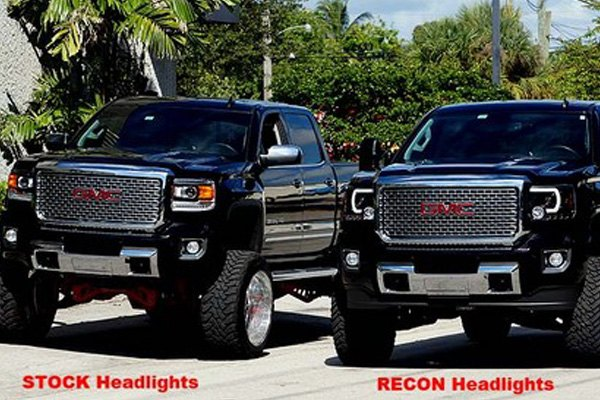 Gmc Sierra Headlights With Built In Led Lightbars Chevy