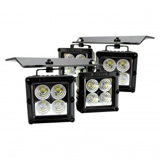 "Recon® - Fog Light Location Mounted High Intensity 3"" 4x20W Square Combo Beam LED Lights"