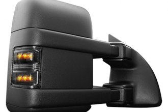 Recon® 264140BK - Smoke Side Mirror Lenses with Amber LED Running Lights and Turn Signals