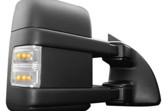 Recon® 264140CL - Clear Side Mirror Lenses with Amber LED Running Lights and Turn Signals