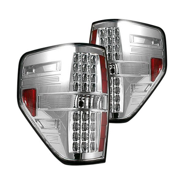 recon 264168cl ford f 150 2012 chrome led tail lights. Black Bedroom Furniture Sets. Home Design Ideas