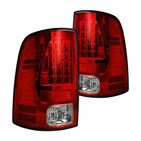 Recon Ram 1500 2014 Chrome Red Led Tail Lights