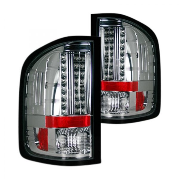 recon 264175cl chevy silverado 2009 chrome led tail lights. Black Bedroom Furniture Sets. Home Design Ideas