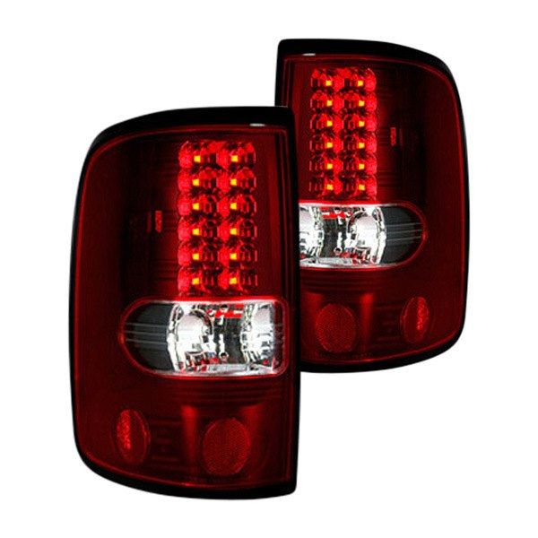 recon 264178rd ford f 150 2006 black red led tail lights. Black Bedroom Furniture Sets. Home Design Ideas