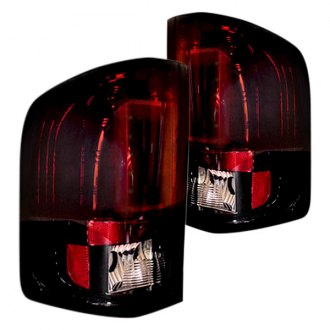 Recon® - Black Red/Smoke Fiber Optic LED Tail Lights