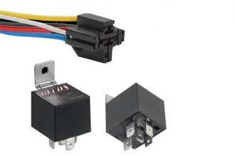 Recon® - 12V 30/40A Relay with 5-PIN Interlocking Wire Connector