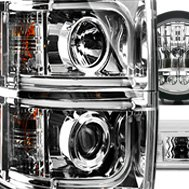 Recon® - Chrome Projector Headlights with Driving Lights