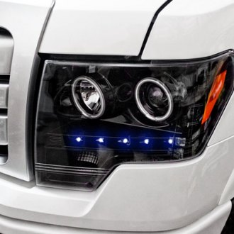 Recon® - Black Projector Headlights Installed on Ford
