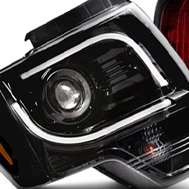 Recon® - Plank Style Black Projector Headlights