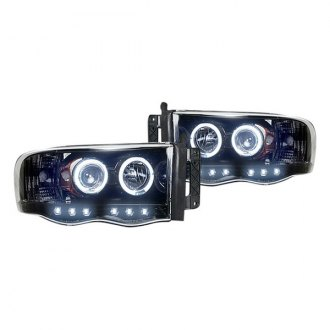 RECON� - Black Dual Halo Projector Headlights with LED DRL