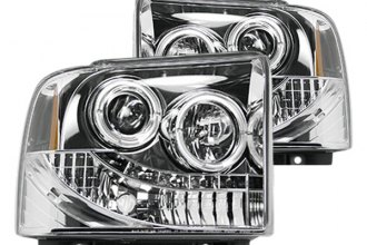 Recon® - Chrome Projector Headlights with LEDs