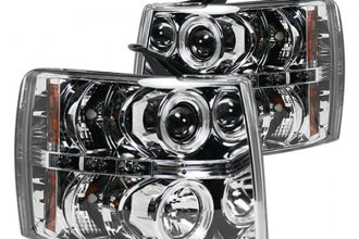 Recon® 264195CL - Chrome Halo Projector Headlights with LEDs