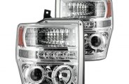 Recon® - Chrome Projector Headlights with LEDs - SD