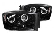 Recon® - Black Halo Projector Headlights with LEDs