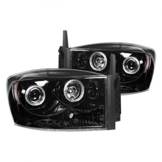 Recon® - Black Halo Projector LED Headlights