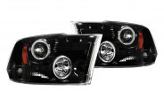 Recon® - Black Projector Headlights with LEDs - 1500 / 2500 / 3500
