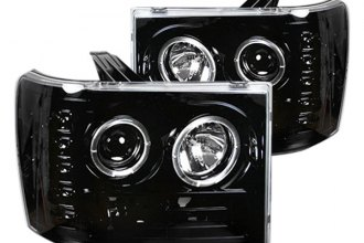Recon® 264271BK - Black Halo Projector Headlights with LEDs