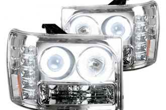 Recon® - Chrome Halo Projector Headlights with LEDs