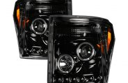 Recon® - Black CCFL Halo Projector Headlights with LEDs - SD