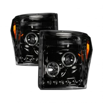 Recon® - Black CCFL Halo Projector Headlights with LEDs