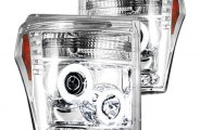Recon® - Chrome CCFL Halo Projector Headlights with LEDs - SD