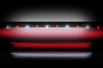 "Recon® 26416 - 60"" Red and White LED Tailgate Bar"