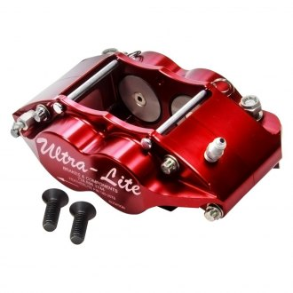 Red Devil® - Feather Lite Series 4 Piston Red Anodize Brake Caliper Inboard
