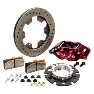 Red Devil® - Feather Lite Series Drilled and Slotted Rear Brake Kit Feather Lite Series Drilled and Slotted Brake Kit