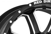 RED DIRT ROAD® - RD01 DIRT Satin Black with Machined Face Close-Up