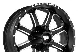"RED DIRT ROAD® - RD01 DIRT Satin Black with Machined Face (20"" x 9"", 0 Offset, 5x139.7 Bolt Pattern, 108mm Hub)"