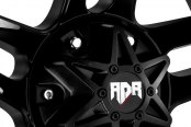 RED DIRT ROAD® - RD03 TREK Satin Black with Machined Face Close-Up