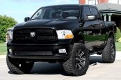 RED DIRT ROAD® - RD04 USA Satin Black with Machined Face on Dodge Ram