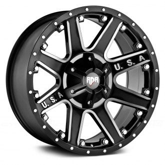 RED DIRT ROAD® - RD04 USA Satin Black with Machined Face
