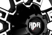 RED DIRT ROAD® - RD06 THUNDER Satin Black with Machined Face Close-Up