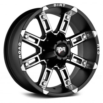 RED DIRT ROAD® - RD06 THUNDER Satin Black with Machined Face