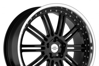 "REDBOURNE® - MARQUES Gloss Black with Mirror Cut Lip (22"" x 9.5"", +32 Offset, 5x120.65 Bolt Pattern, 72.56mm Hub)"