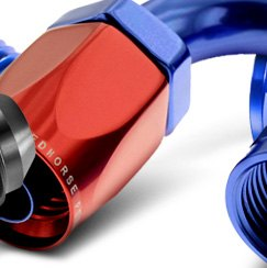 Redhorse Performance® - 180 Degree Swivel Seal Female Aluminum Hose End Red Blue