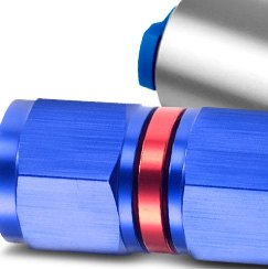 Redhorse Performance® - Female to Female AN JIC Swivel Coupling Red Blue