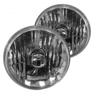 "RedLine LumTronix® - Elite 5 3/4"" Round Chrome Diamond Cut Euro Headlights"